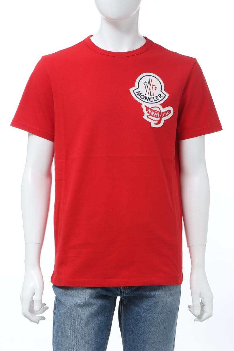 【全品10%OFFクーポン配布中!】モンクレール MONCLER Tシャツ 半袖 丸首 クルーネック メンズ 8C71200 8390T レッド 送料無料 楽ギフ_包装 10%OFFクーポンプレゼント