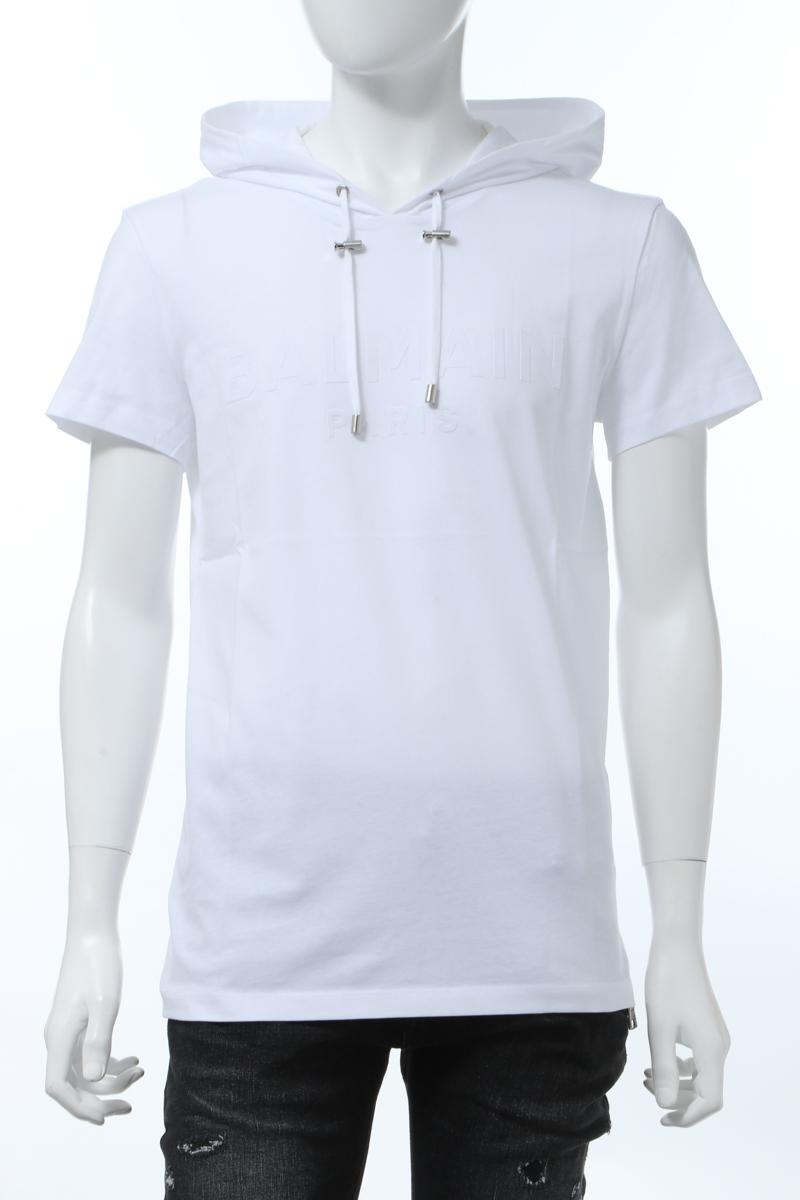 【全品10%OFFクーポン配布中!】バルマン BALMAIN Tシャツ 半袖 フーディー メンズ TH11180 I228 ホワイト 送料無料 楽ギフ_包装 10%OFFクーポンプレゼント 2020年春夏新作