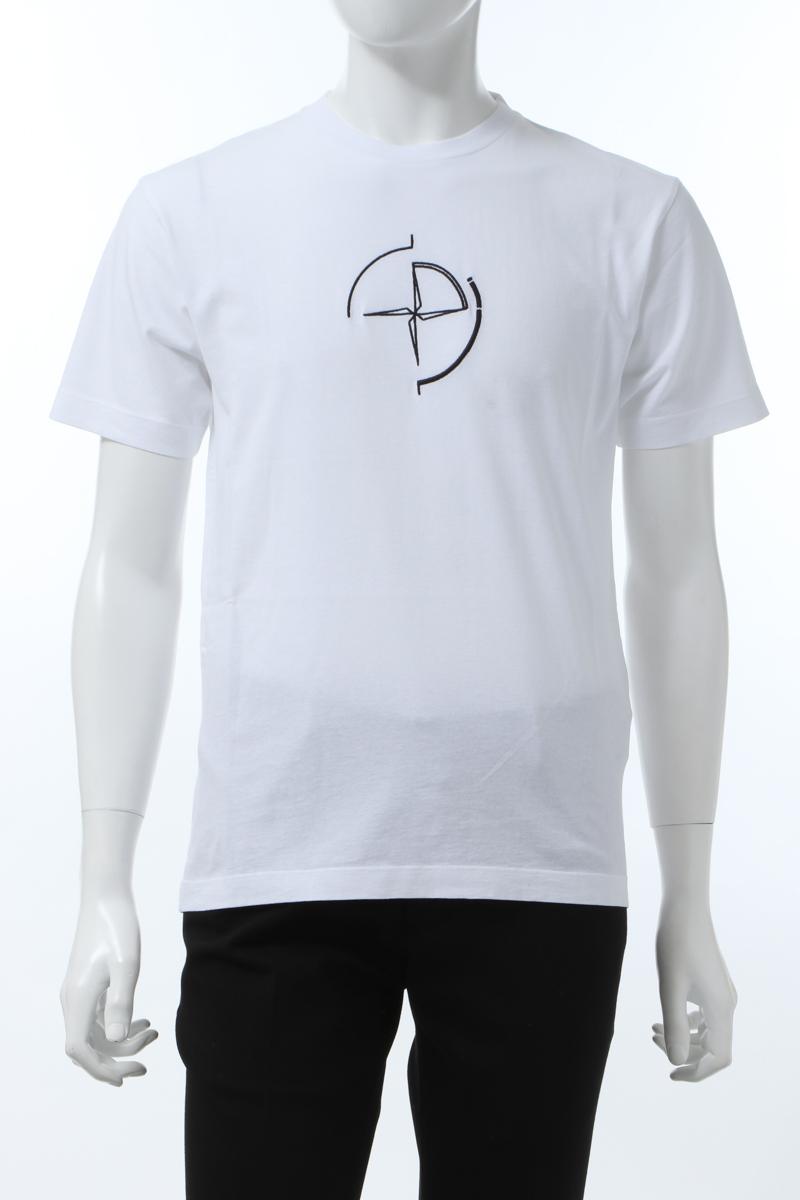 【全品10%OFFクーポン配布中!】ストーンアイランド STONE ISLAND Tシャツ 半袖 丸首 クルーネック メンズ 72152NS89 ホワイト 送料無料 楽ギフ_包装 10%OFFクーポンプレゼント 2020年春夏新作