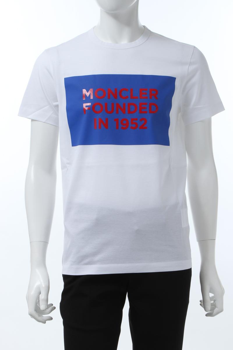 【全品10%OFFクーポン配布中!】モンクレール MONCLER Tシャツ 半袖 丸首 クルーネック メンズ 8C74610 8390Y ホワイト 送料無料 楽ギフ_包装 10%OFFクーポンプレゼント 2020年春夏新作