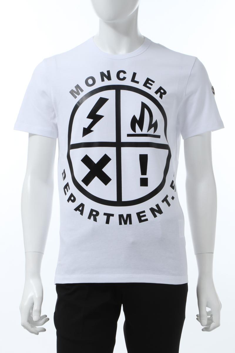 【全品10%OFFクーポン配布中!】モンクレール MONCLER Tシャツ 半袖 丸首 クルーネック メンズ 8C74020 8390T ホワイト 送料無料 楽ギフ_包装 10%OFFクーポンプレゼント 2020年春夏新作