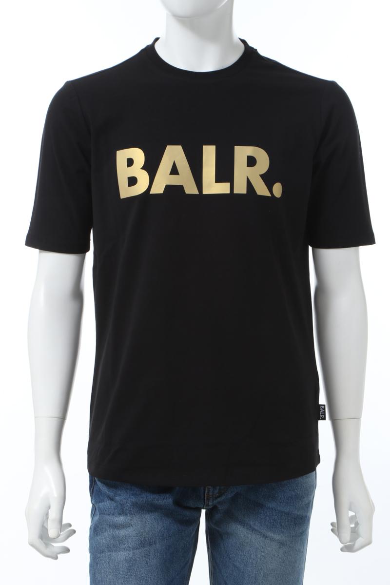 【6/1 0:00~6/3 9:59まで ポイント5倍】ボーラー BALR. Tシャツ 半袖 丸首 クルーネック BLACK GOLD BRN ATHL メンズ B10001 ブラック×ゴールド 送料無料 楽ギフ_包装 2020年春夏新作 10%OFFクーポンプレゼント
