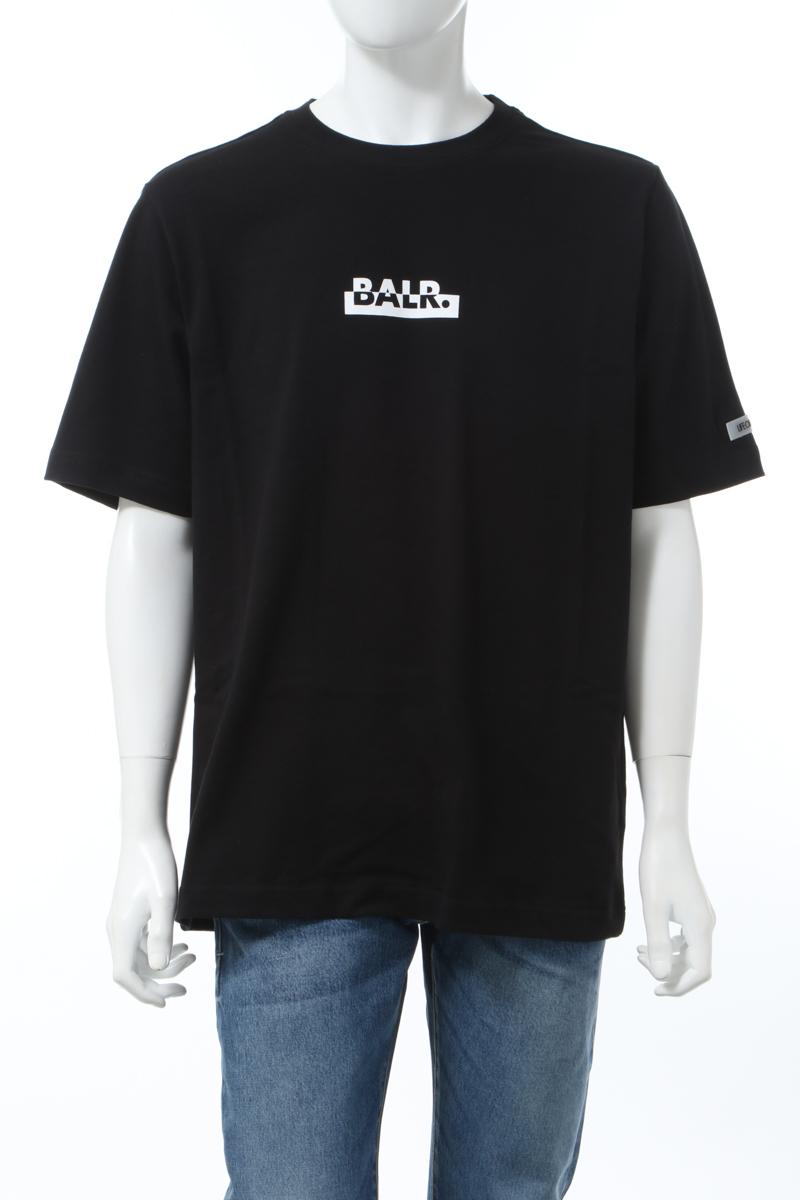 【6/1 0:00~6/3 9:59まで ポイント5倍】ボーラー BALR. Tシャツ 半袖 丸首 クルーネック BLACK CONTRASTING L メンズ B10073 ブラック 送料無料 楽ギフ_包装 2020年春夏新作 10%OFFクーポンプレゼント