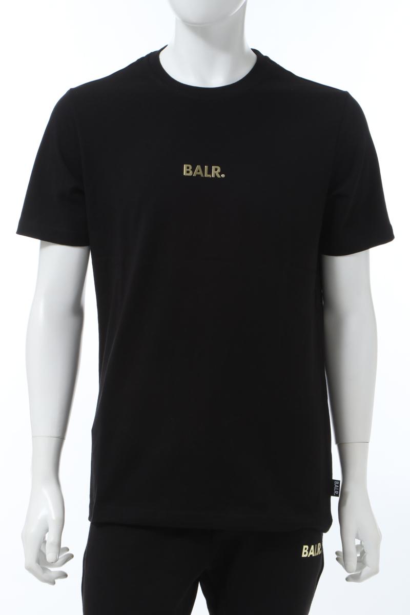 【6/1 0:00~6/3 9:59まで ポイント5倍】ボーラー BALR. Tシャツ 半袖 丸首 クルーネック BLACK GOLD メンズ B10003 ブラック×ゴールド 送料無料 楽ギフ_包装 10%OFFクーポンプレゼント 2020年春夏新作
