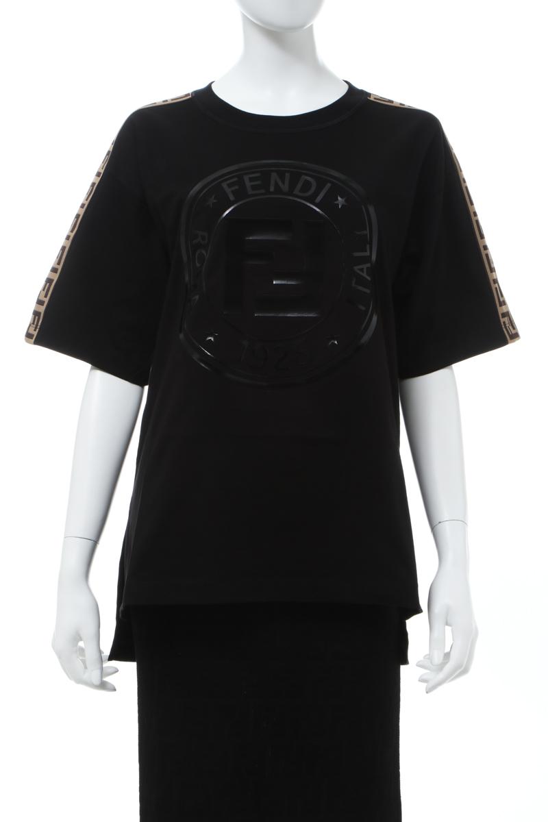 【スーパーSALE 全品10%OFFクーポン配布中】フェンディー FENDI Tシャツ 半袖 丸首 クルーネック レディース FAF073 AB4E ブラック 送料無料 楽ギフ_包装 10%OFFクーポンプレゼント 2020年春夏新作