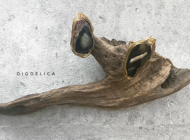 限定・グローレルアゲートリング 指輪 瑪瑙 メノウ agate パワーストーン 天然石 インポート【DIGDELICA】ディデリカ