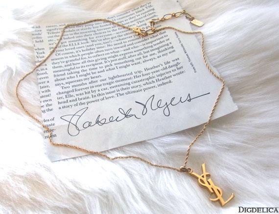 los angeles 7b9ed e19ca Vintage【Yves Saint Laurent】ヴィンテージイヴサンローラン・YSLネックレスv784【DIGDELICA】|DIGDELICA