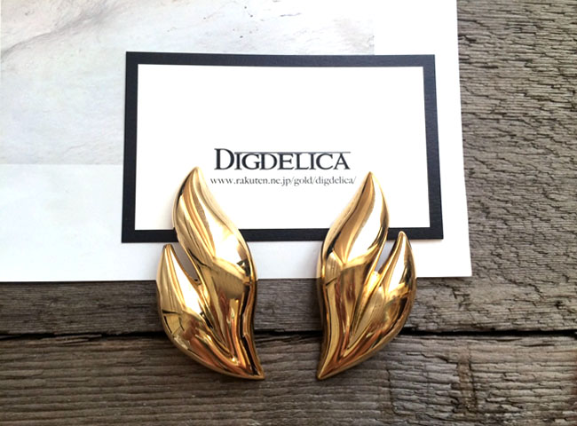 【GIVENCHY】ジバンシィグランセルヴィンテージイヤリングEARRING v1044【DIGDELICA】ジバンシー ディデリカ