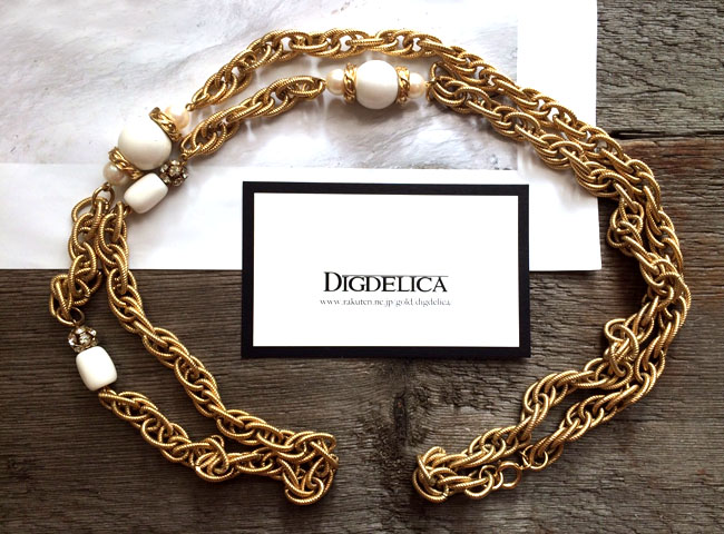 【GIVENCHY】ジバンシィ・ジョルーナパールヴィンテージロングネックレスv1071【DIGDELICA】ジバンシー ディデリカ