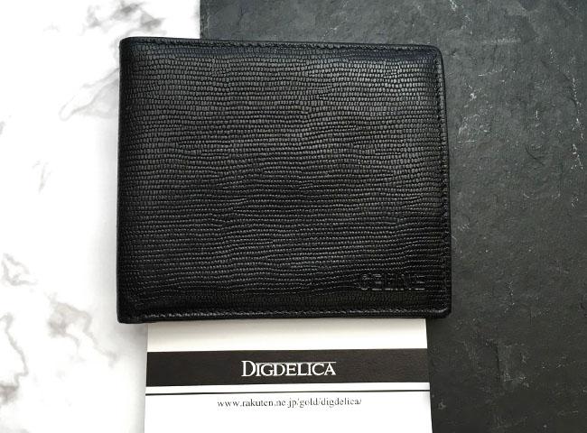 【CELINE】セリーヌ・ヴィンテージレザーウォレット 財布 二つ折り財布 革 ブラック 黒 メンズ レディースv1135【DIGDELICA】ディデリカ