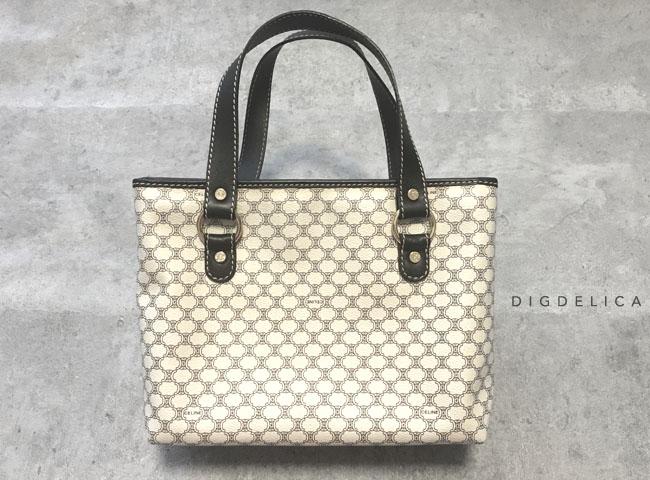 【CELINE】セリーヌ・ヴィンテージマガダムハンドバッグ 鞄 革 白 ホワイト レザー White v1225【DIGDELICA】ディデリカ・ヴィンテージUESD中古品