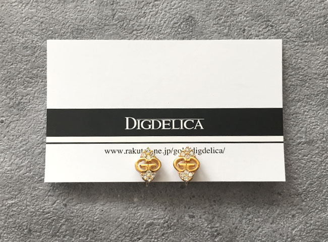 【GIVENCHY】ジバンシィ・ヴィンテージイヤリングEARRING GOLD v1231【DIGDELICA】ジバンシー ディデリカ