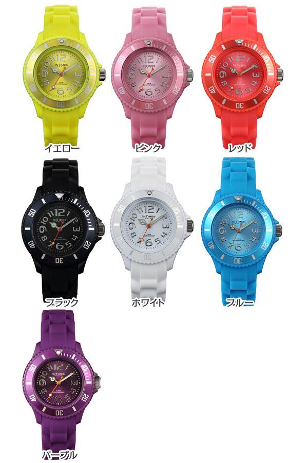 2961ca3a4d INTIMES(インタイムス)かわいい36mmシリコンレディース/キッズサイズ腕時計選べる7色