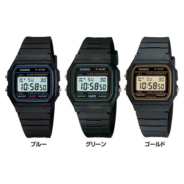 def33e90b9 【3ヵ月保証】チープカシオ CASIO デジタル 防水 カジュアル メンズ レディース クォーツ 腕時計 F91 F-91W