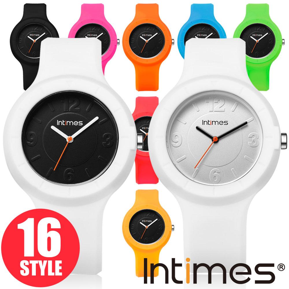 INTIMES インタイムス 40mm 着せかえられるシリコンウォッチ 軽量 防水 かわいい キッズ レディース メンズ アナログ ペア アウトドア 腕時計 IT092
