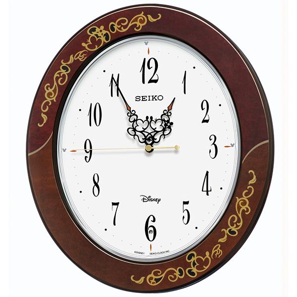 SEIKO セイコー ディズニー 掛け時計 壁掛け 電波時計 FS510B 大人ディズニー 鳥の鳴き声 ミッキー ミニー ミッキー&フレンズ キャラクター スイープ 【お取り寄せ】