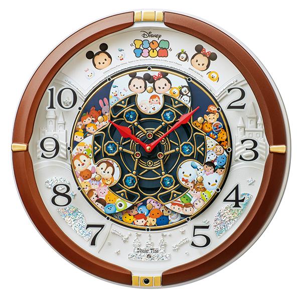 SEIKO セイコークロック SEIKO ディズニー 掛け時計 壁掛け FW588B セイコー掛け時計 ディズニーツムツム からくり メロディ かわいい