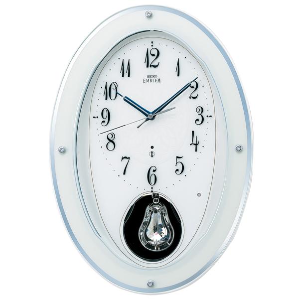 SEIKO セイコー 掛け時計 スタンダード EMBLEM エムブレム 電波 HS444W【お取り寄せ】