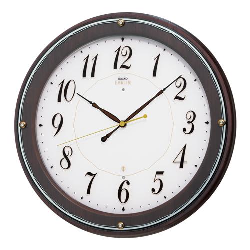 SEIKO セイコー 掛け時計 スタンダード EMBLEM エムブレム 電波 HS545B【お取り寄せ】