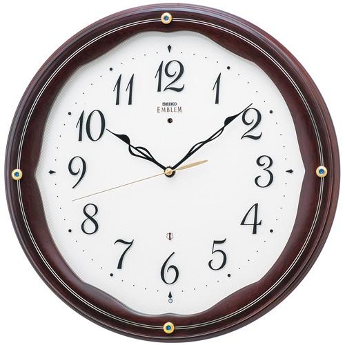 SEIKO セイコー 掛け時計 スタンダード EMBLEM エムブレム カットガラス HS551B【お取り寄せ】