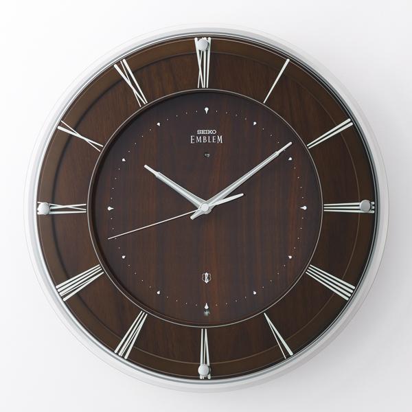 SEIKO セイコー 掛け時計 ガラスと木のナチュラルモダンな掛時計 EMBLEM エムブレム HS558A
