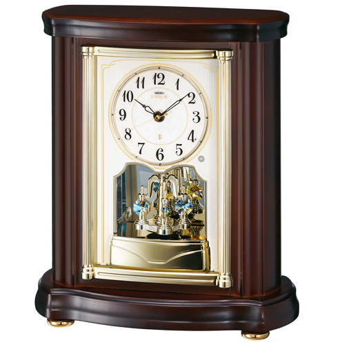SEIKO セイコー EMBLEM エムブレム 置き時計 電波 スイープ スワロフスキー HW581B【お取り寄せ】