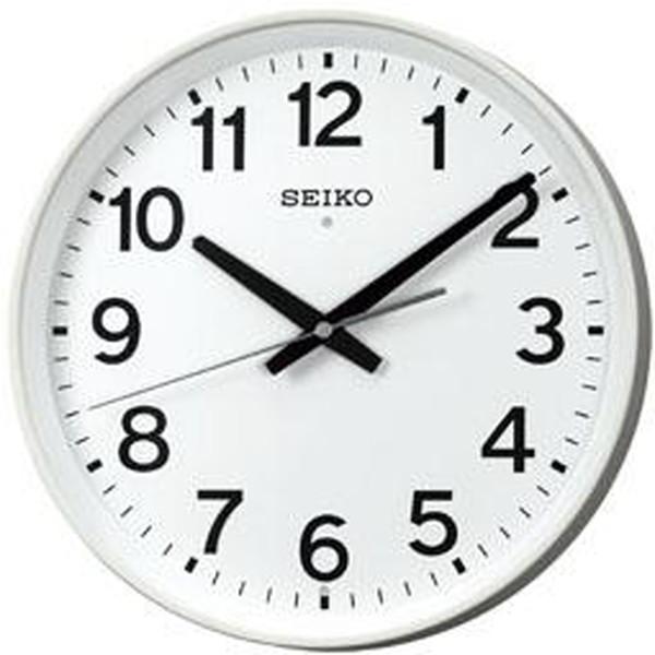 SEIKO セイコー 掛け時計 オフィス 電波 アナログ 白 KX317W【お取り寄せ】