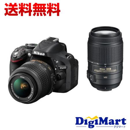 【送料無料】ニコン Nikon D5200 ダブルズームキット [ブラック] デジタル一眼レフカメラ 【新品・国内正規品】