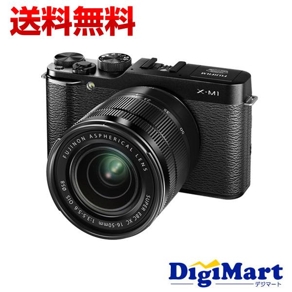 【送料無料】富士フイルム FUJIFILM X-M1 レンズキット Black [ブラック] デジタル一眼レフカメラ【新品・国内正規品】(X-M1)[XC16-50mmF3.5-5.6 OIS]