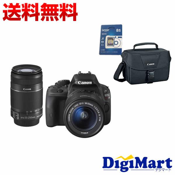 【楽天カード決済でポイント最大12倍】[9月15日限定]キャノン Canon EOS Kiss X7 ダブルズームキット & Canonバッグ& 8GB SDカードのセット デジタル一眼レフカメラ【新品・国内正規品】
