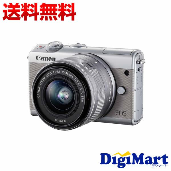 【送料無料】キャノン Canon EOS M100 EF-M15-45 IS STM レンズキット [グレー] 一眼レフカメラ【新品・国内正規品・ダブルズームキット化粧箱】