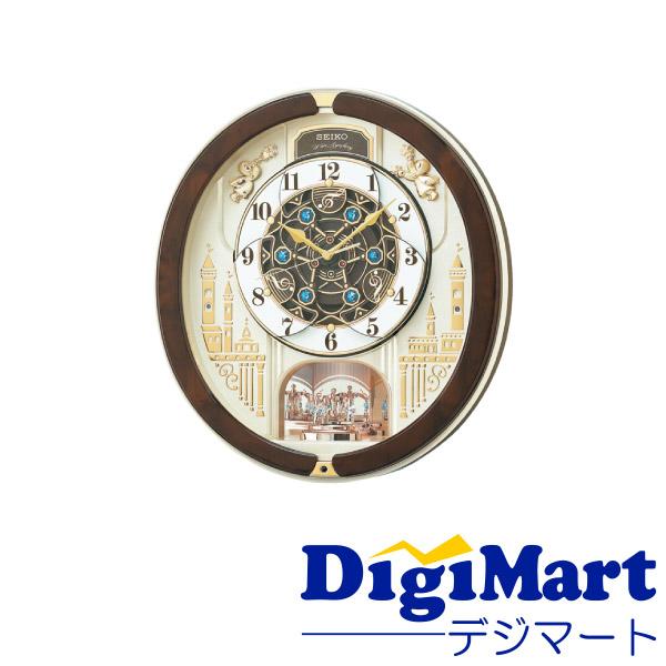 特別セール品 送料無料 セイコー SEIKO RE579B 掛け時計 電波 アナログ 薄金色 電波からくり掛時計 回転飾り パール ☆正規品新品未使用品 メロディ からくり トリプルセレクション