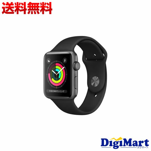 Series 42mm [ブラックスポーツバンド]【新品・並行輸入品】 MTF32ZP/A Apple GPSモデル 3 Watch MTF32LL/A MTF32CL/A 【送料無料】アップル