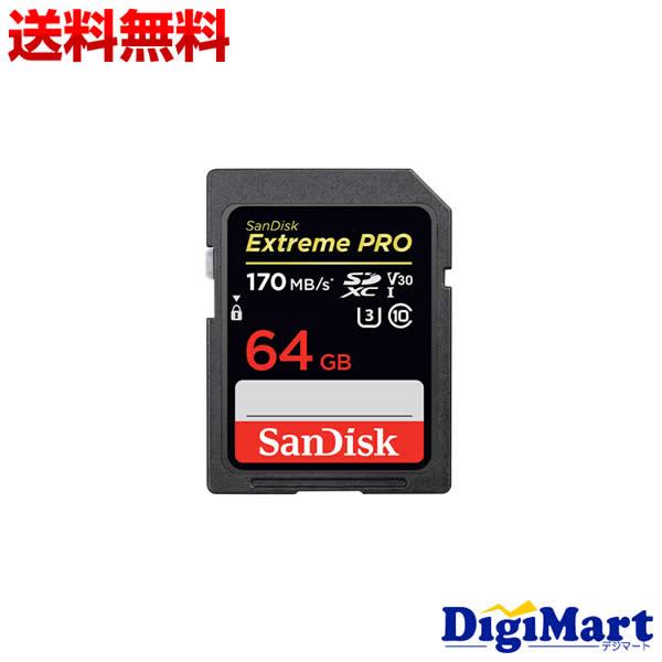 メール便で発送 送料無料 サンディスク Sandisk ExtremePRO 64GB SDSDXXY-064G-GN4IN SDXCメモリーカード お金を節約 公式通販 UHS-I 海外向パッケージ品