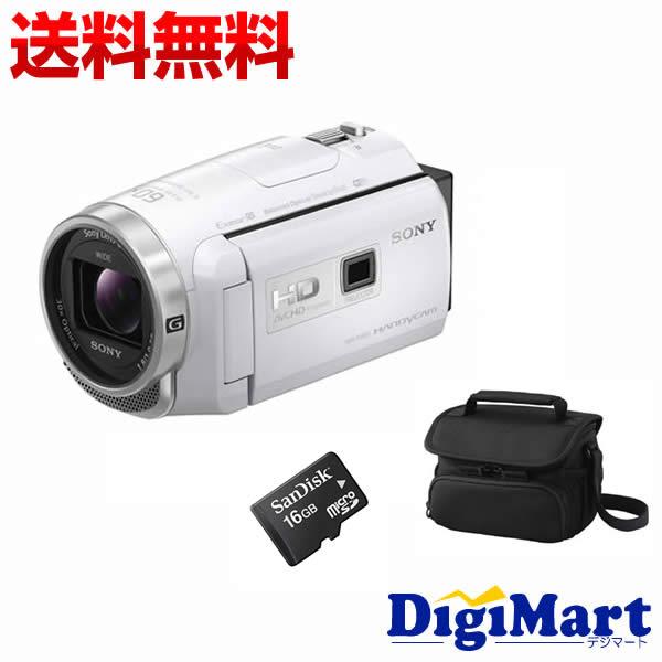 【エントリー&カード決済でポイント最大12倍】[11月25日 限定]【送料無料】ソニー SONY HDR-PJ680 (W) [ホワイト] ビデオカメラ + ビデオカメラバッグ + 16GB micro SDカード お買い得セット【新品・国内正規品】(HDRPJ680)