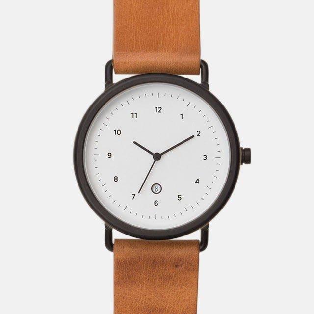 chiandchi チーアンドチー ESU 腕時計 レザーベルト MT02 ブラック/ハニー 日本正規品