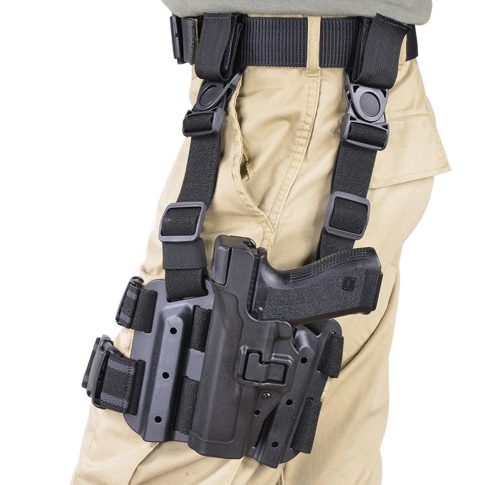ブラックホーク レッグホルスター セルパ LV3 グロック17 左用 430600BK-R Glock 22 31 | シェルパ サイホルスター 太もも 太腿 Blackhawk BHI