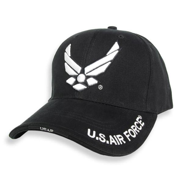 Repmart  Rothco Cap U. S. Air Force logo  Black  938403  c86e37116dd