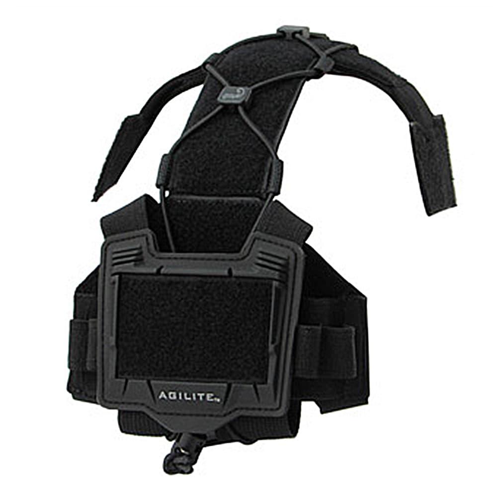 AGILITE ヘルメットアクセサリープラットフォーム BRIDGE ベルクロ付き [ ブラック ] ベルクロプラットフォーム ヘルメットパーツ サバゲー装備 サバゲーグッズ ミリタリー用品 Tactical Helmet Accessory Platform