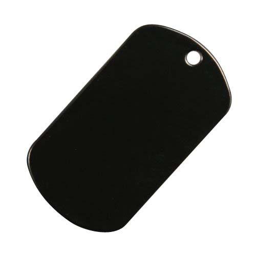 ドッグタグ 国産品 アウトレットセール 特集 プレート 8393 ブラック ドックタグ 認識票 DOG TAG 艶あり Tag Dog ドッグタグパーツ つやなし メンズアクセサリー 識別票 つやあり