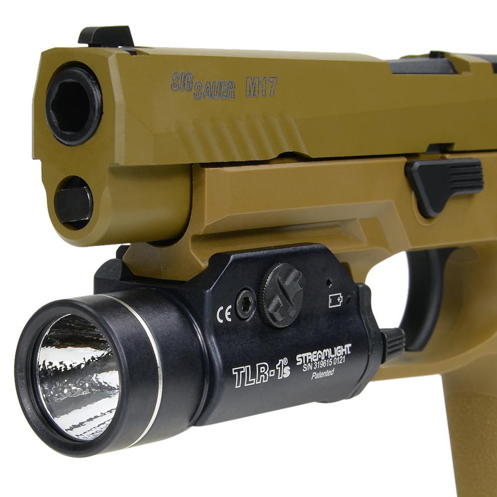 300ルーメンにパワーアップしたTLR-1に、ストロボ機能を搭載 STREAMLIGHT ウェポンライト TLR-1s ストロボ付 最新型   タクティカルライト ピストルライト Streamlight けん銃用ライト ハンドガンライト ウエポンライト