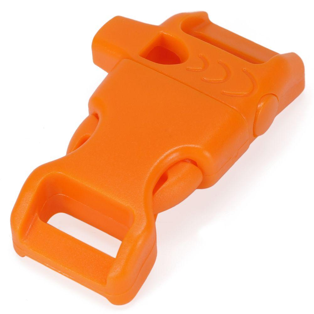 遭難時や災害時に役立つホイッスル付バックル 買い物 新作続 ホイッスルバックル 45×20mm オレンジ 笛 通販 サイドリリースバックル 販売
