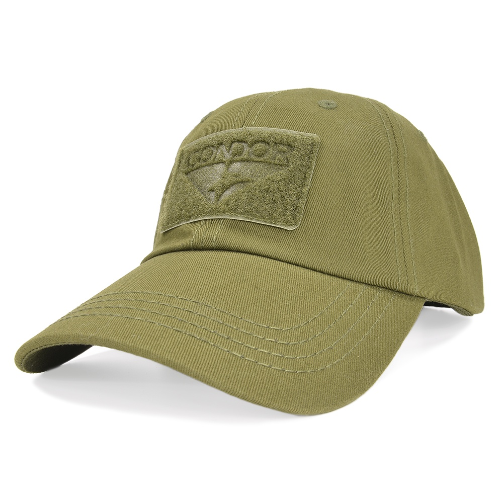 サバゲーから普段使いまでOK! コーディネートしやすい単色シリーズ CONDOR タクティカルキャップ 帽子 ミリタリー 単色シリーズ [ オリーブドラブ ] コンドル ベースボールキャップ メンズ ワークキャップ ハット ミリタリーキャップ 野球帽 LE装備 サバゲー アウトドア 装備品 ファッション 通販 販売