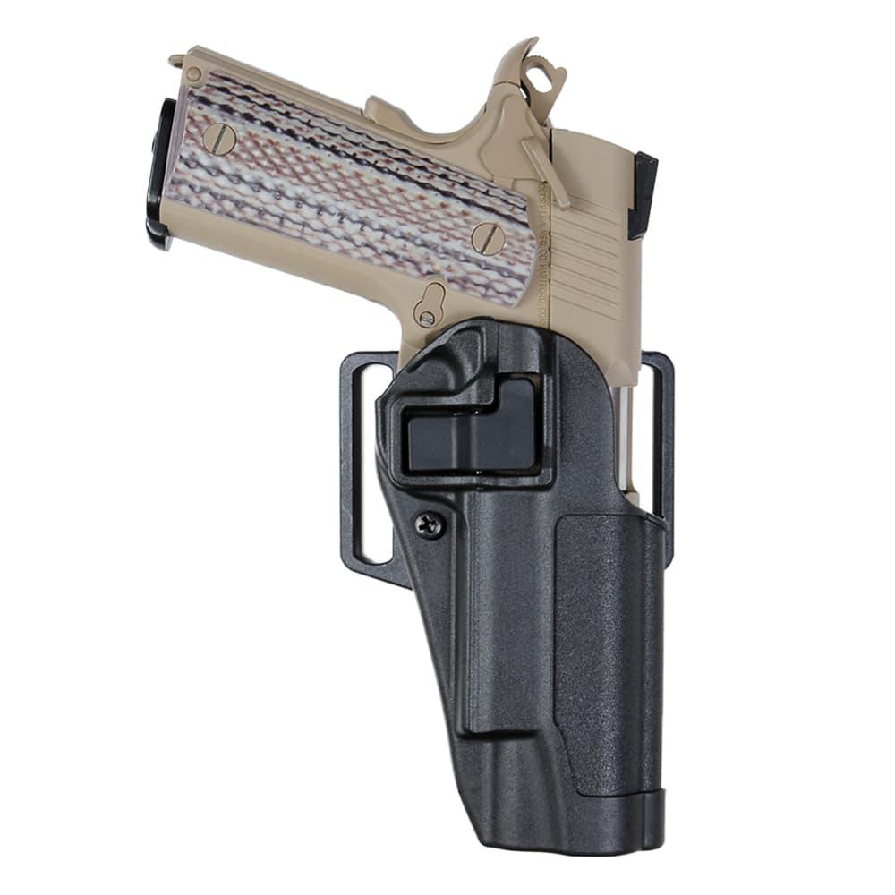 レールドフレームにも対応可能な1911用ホルスター BLACKHAWK 実物 SERPA CQCホルスター 1911系適合 M45A1対応可 ブラック 右利き ブラックホーク コルト1911 COLT 美品 ヒップホルスター シェルパ ベルトホルスター 410503 BHI 拳銃嚢 CQBホルスター 近接格闘 ガバメント 気質アップ