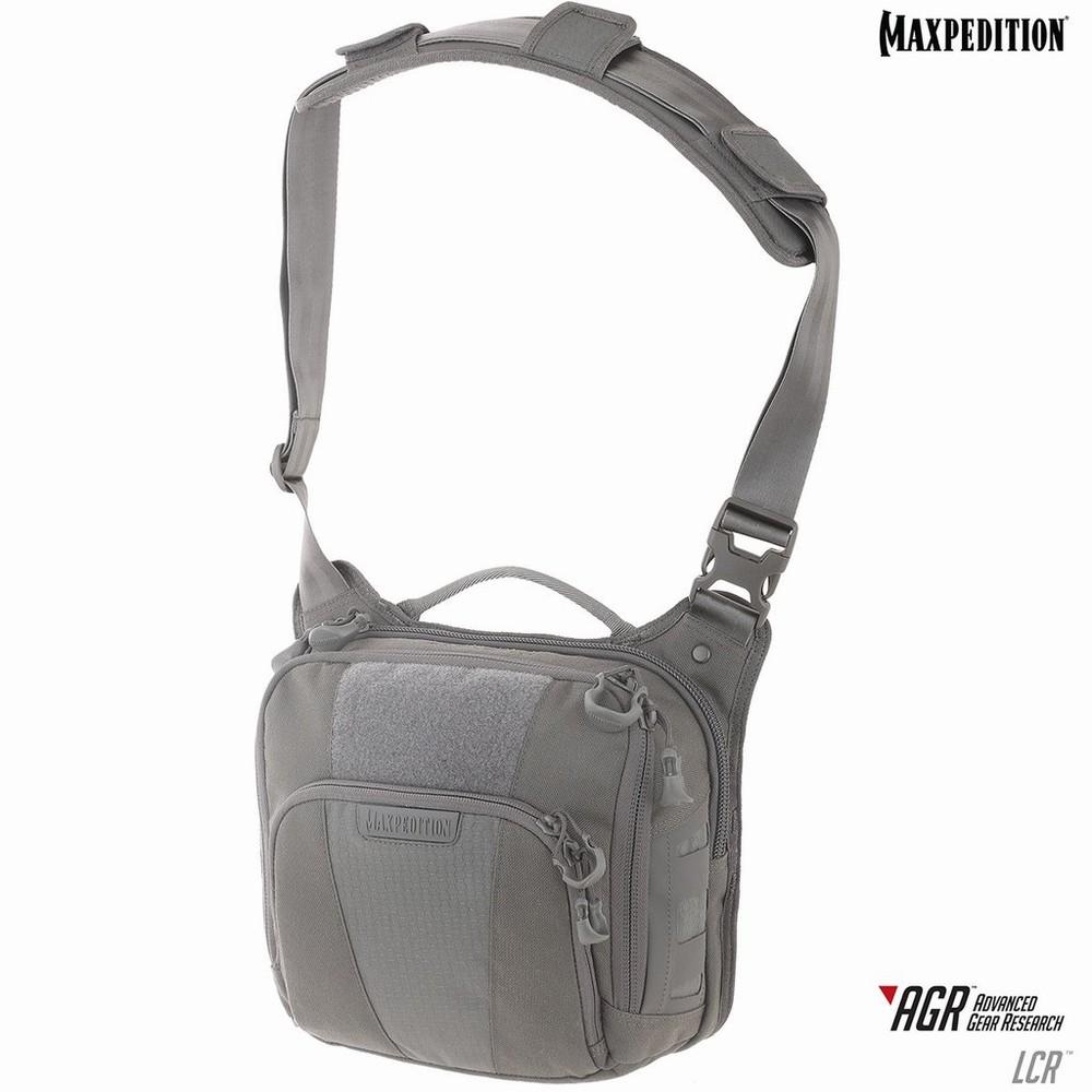 マックスペディション Lochspyr クロスボディショルダーバッグ 5.5L [ グレー ] ショルダーバック メッセンジャーバッグ かばん カジュアルバッグ カバン 鞄 ミリタリー 帆布 斜めがけバッグ 肩掛けバッグ MAXPEDITION