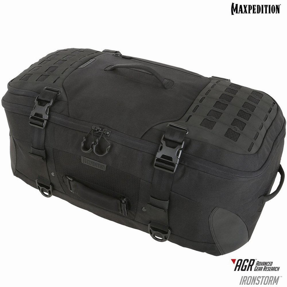 MAXPEDITION アイアンストーム アドベンチャー トラベルバッグ [ ブラック / 62L ] マックスペディション キャリーケース キャリング ボストンバッグ 旅行かばん ダッフルバック ミリタリー カジュアルバッグ カバン 鞄 帆布