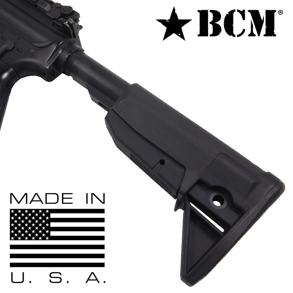 BCM 実物 ガンファイター ストック MOD 0 AR15/M4対応 [ ブラック ] ブラボーカンパニー Stock Assembly buttstock バットストック 電動ガン ガスガン サバゲー装備 ミリタリーグッズ サバイバルゲーム