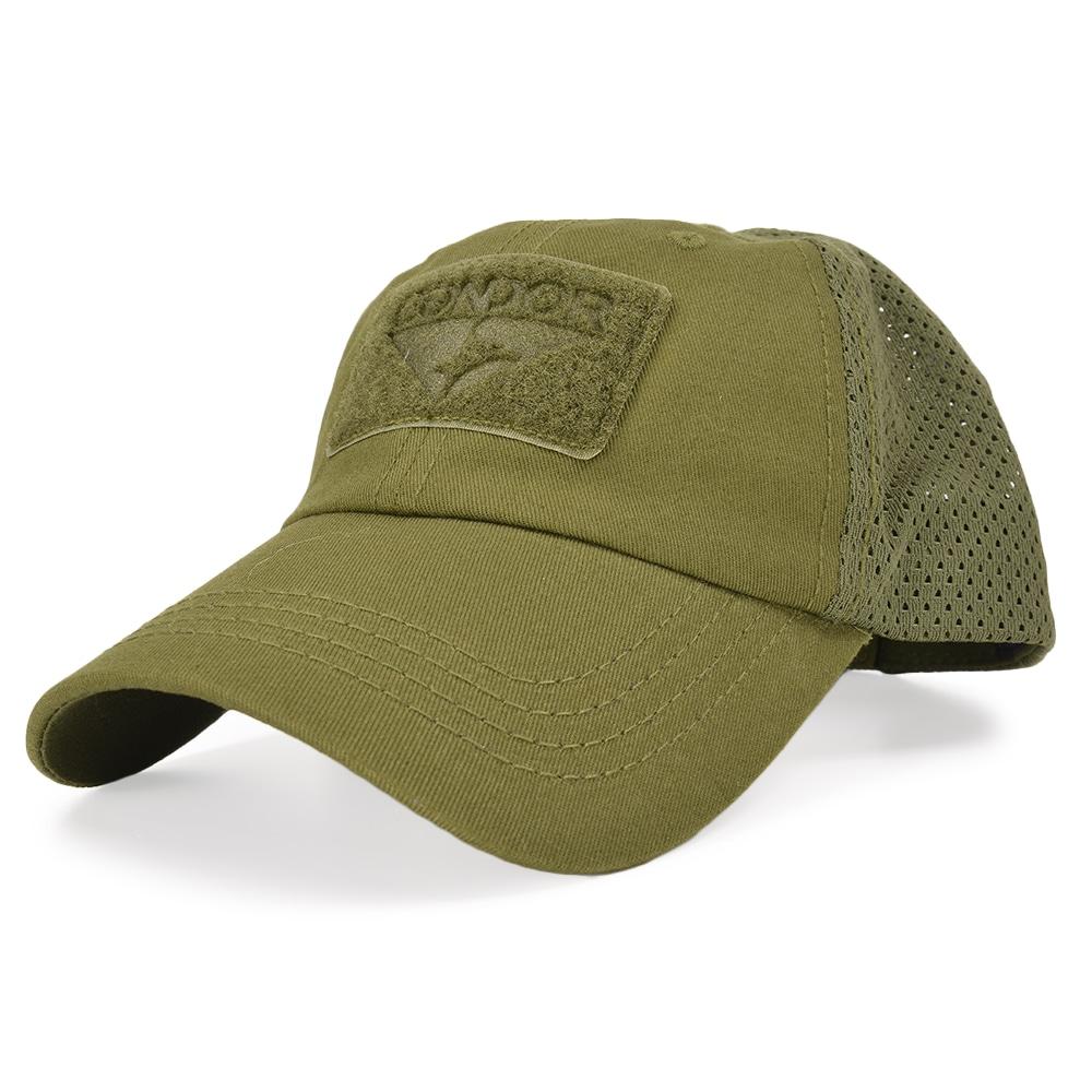 通気性が良く長時間の使用も快適なメッシュキャップ CONDOR 帽子 タクティカルメッシュキャップ [ オリーブドラブ ] ベースボールキャップ メンズ ワークキャップ ハット ミリタリーキャップ 通販 販売 LE装備 野球帽