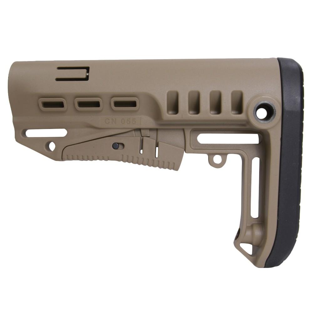 DLG Tactical バットストック TBSコンパクト AR15対応 コマーシャル [ ベージュ ] TACTICAL 商用グレード 銃床 リトラクタブル アジャスタブル ガンパーツ トイガン カスタマイズ カスタムパーツ