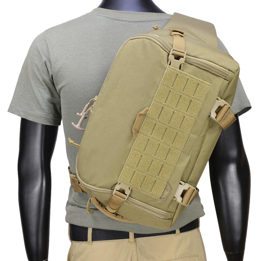 5.11タクティカル スリングバッグ UCR SLINGPACK [ サンドストーン ] ショルダーバック メッセンジャーバッグ かばん カジュアルバッグ カバン 鞄 ミリタリー 帆布 斜めがけバッグ 肩掛けバッグ